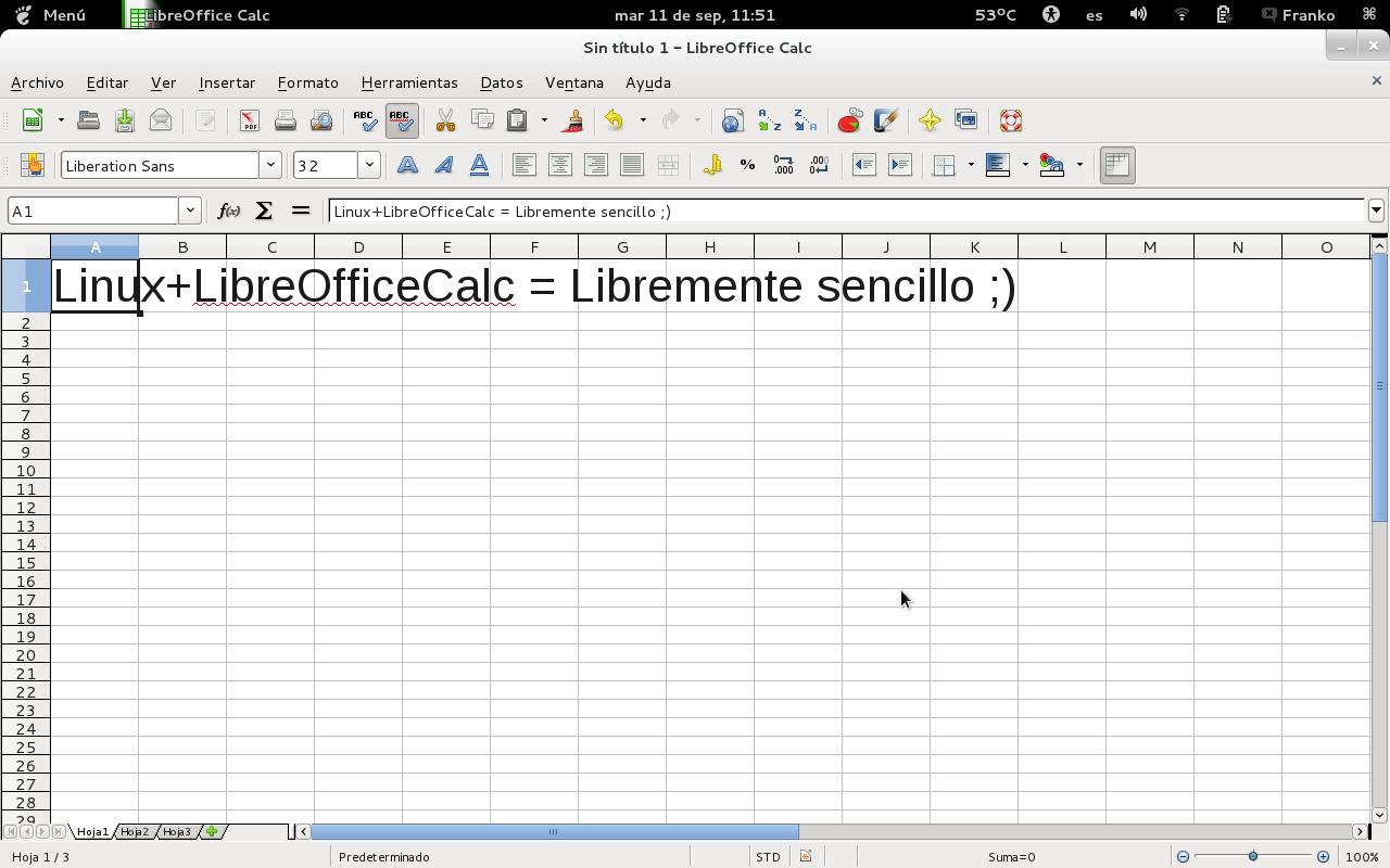 LIBRE OFFICE CALC, LA HOJA DE CALCULO LIBRE   networkfreesoft